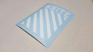 Original OffWhite Vinyl Sticker (gloss or matt) - 11.9cm x 8.6cm or 10.5cm x 7.5cm (4 Pieces)