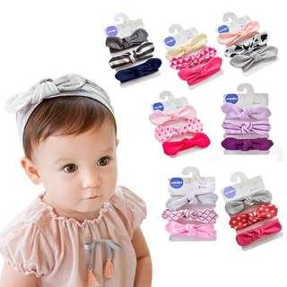 🚚 [PRE-ORDER] Baby Girls Bowknot Hairband Head Wrap Headband 3Pcs Set