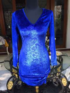 Royal Blue Dress stretch