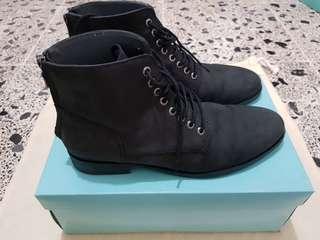 Sepatu Boot Kulit Suede Asli