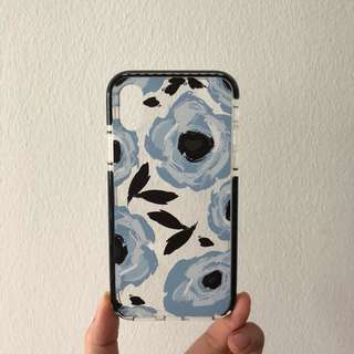 Blue Floral Abstract Impact Case [BNIB]