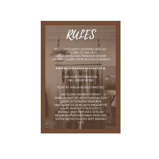 RULES MY SHOP :))