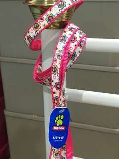 #1 Floral & Pink Leash Dog / Pet 5/8inches x 6 ft