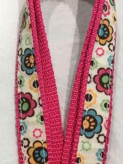 #3 Pink & Floral Leash 6 ft