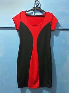 Sexy red & black dress💖