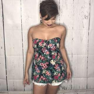 Forever 21 Floral Tube Dress