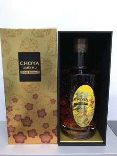 (特價)蝶矢金箔頂級梅酒 Choya Gold Edition