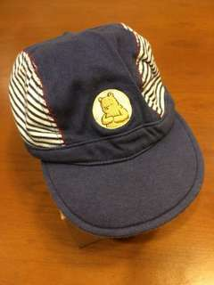 USED - Classic Pooh Navy Blue Baby Hat