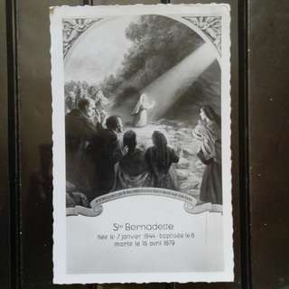 [lapyip1230] 法屬地聖母明信片 1958年 光面照片式黑白明信片