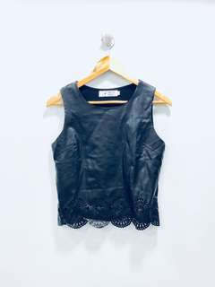 Something Borrowed Pleather Top - Preloved, Excellent Condition