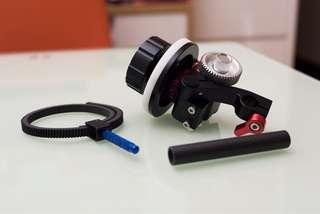Kamerar FF-3 Follow Focus 只需一支15mm Rod
