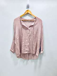 Pink Small Polka Top - Preloved, Excellent Condition