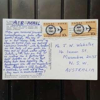[lapyip1230] 美佔巴拿馬運區明信片 1972年 彩色明信片