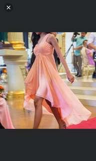 Peach Dress/Gown