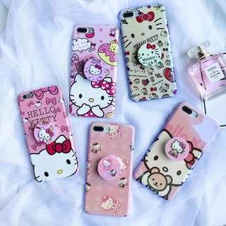 超級靚一款Hello Kitty帶支架手機殼,支架可要唔好 IPhone6/6s IPhone6plus/6splus IPhone7/8 IPhone7plus/8plus IPhoneX,兩個起尖沙咀或者屯門站