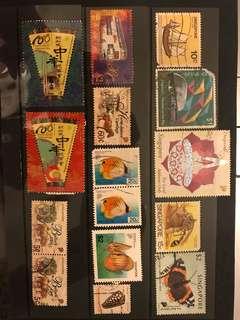 星加坡 新加坡 郵票 蓋銷