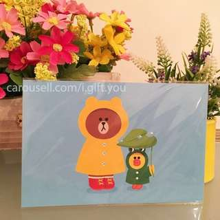 BNIP Brown and Sally Postcard Line Friends Line Characters