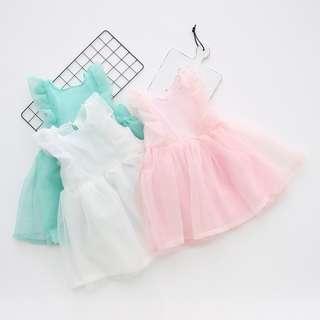 🚚 [PRE-ORDER] Baby Girls Clothing Seersucker Princess Summer Sleeveless Dress