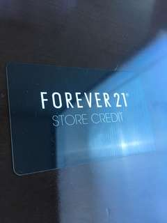 Forever 21 Store Credit  223.39 Value