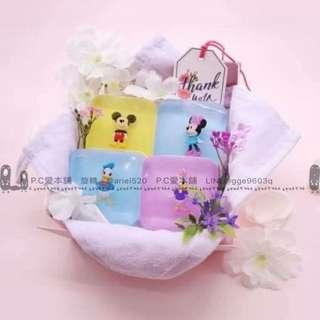 韓國連線預購限時團Disney figure方形公仔香皂toysoap/100g