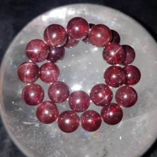 ⭐Bracelet (Star Light Garnet*星光石榴石)
