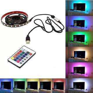 Bias Lighting, RGB LED Light Strip TV Backlight USB Strips Waterproof LED Lamp with Remote Controller
