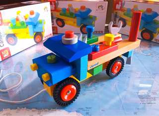 New~ Janod Camion Brocolo DIY Truck / Wooden Tools Truck kids toys/ baby toy / car