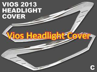 TOYOTA VIOS 2013 HEADLIGHT AND TAILLIGHT CHROME COVER (cannot be bought separately)