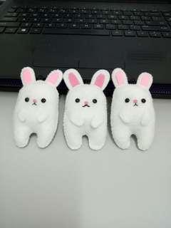 Bunny Felt Keychain