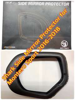SHARK SIDE MIRROR PROTECTOR FOR MONTERO SPORT 2016-2018