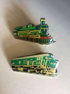 列車 車 扣針兩個