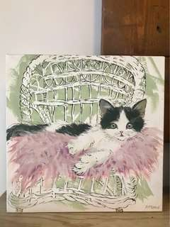 Print on Canvas: Glamour Puss by Adelene Fletcher bought from London