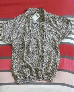 chinesse collared blouse