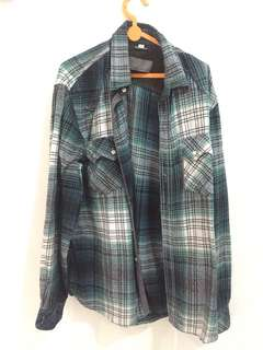 Flannel zara basic
