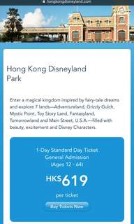 Rush! Discounted Disneyland Ticket