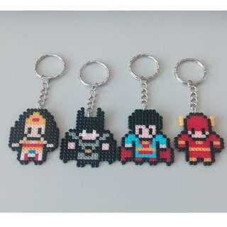 Superman, Batman, Wonder Woman, The Flash Keychain