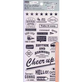 Daiso Rub-On Sticker (Travel)