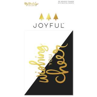 My Mind's Eyes - Joyful Collection - Journal Cards (Gold Foil Accents)