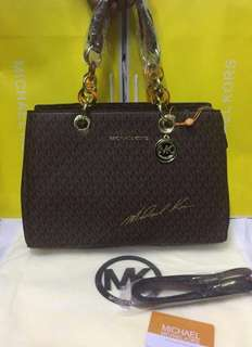 Michael Kors Cynthia Medium Saffiano Leather Satchel