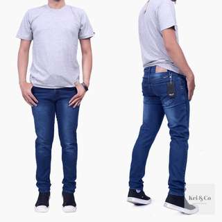 Celana Denim Biru Washing