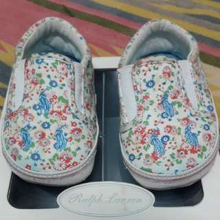 Ralph Lauren baby girl prewalker shoes(white floral)