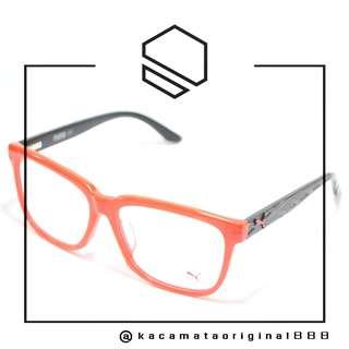 Frame Kacamata Original PUMA 0051OA Paket Free Gratis Lensa Bahan Plastik Kotak