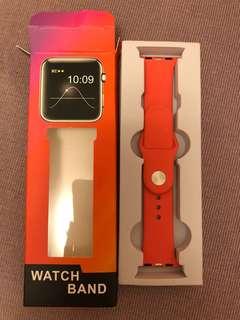Apple Watch 錶帶38mm 西瓜紅