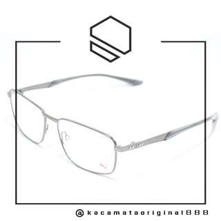 Frame Kacamata Original PUMA 0093O Paket Free Gratis Lensa Bahan Stainless Steel Kotak