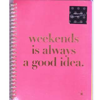 Monoyono - Weekends Collection - Foil Spiral Notebook (weekends is always a good idea)
