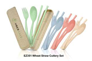Wholesale Wheat Straw Cutlery Set