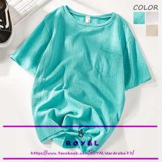 糖果色休閒透氣素色T恤 A8220