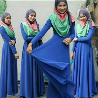 Flare jubah dress
