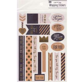 Daiso Wrapping Stickers with Foil Accents (Design 2)