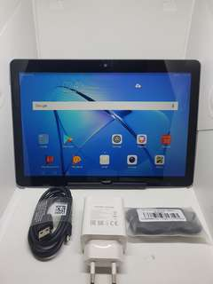 HUAWEI TAB T3    WITH SIM   4G  LTE 10 inches Second hand With sim  data and Wifi have * 2GB RAM 16gb internal  15mp  camera  Expandable memory up to 128 gb Almost new  % 90 and % 98 so clean  No issue Clean With complete accessories Maganda
